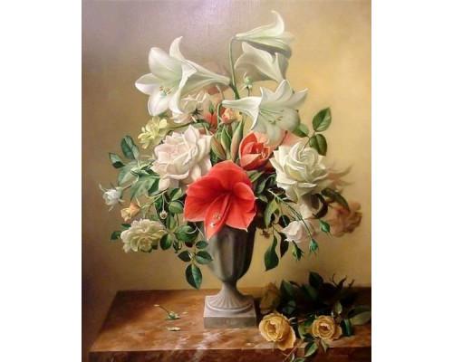 """Colibri Картина по номерам """"Лилии и розы"""" 40х50 см (VA-0302)"""