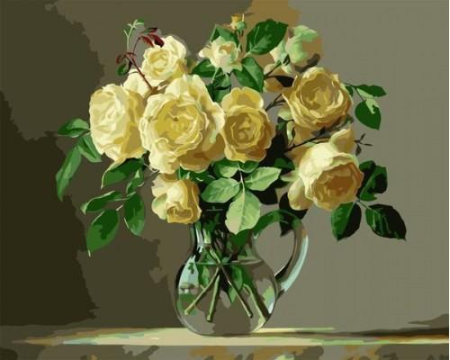 "Colibri Картина по номерам ""Розы в прозрачной вазе"" 40х50 см (VA-0303)"