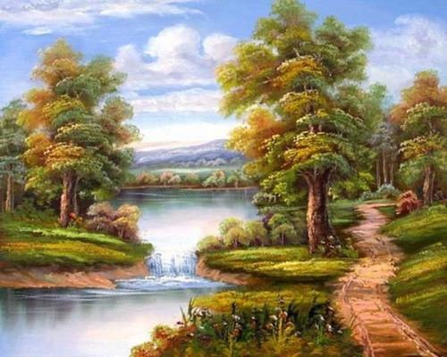 Речной водопад