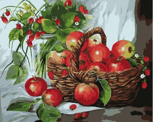 Лукошко яблок