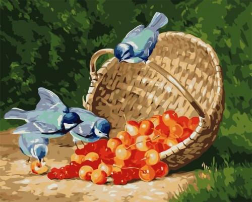 Синицы и ягоды