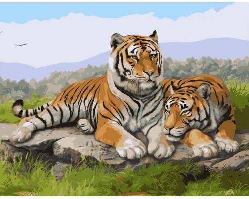 Отдыхающие тигры