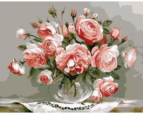 БИ1. Розы в стеклянной вазочке, Бузин И.,