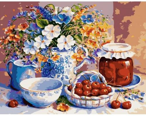 Цветы и вишня
