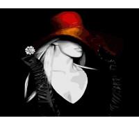 Девушка в красной шляпке
