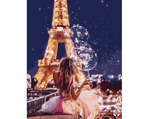 Девушка и звёздное небо
