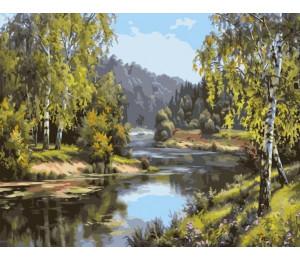 """Colibri Картина по номерам """"У реки, Прищепа И."""" 40х50 см (VA-1522)"""