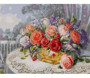 "Картина по номерам ""Розы на веранде, Дандорф О."" 40х50 см (VA-1569)"
