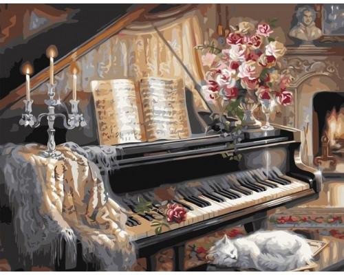 Кот у рояля