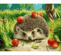 Ёжик с яблоками