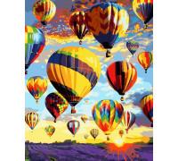 Картина по номерам 40х50 см Воздушные шары